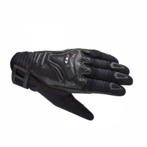 Rękawice motocyklowe męskie rękawice all terrain man black - męskie (1) marki Ls2