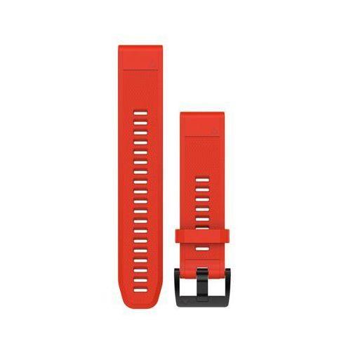 Pasek do zegarka sportowego GARMIN Approach S60/Fenix 5/Forerunner 935/Quatix 5/Quatix 5 Sapphire Czerwony 010-12496-03, kolor czerwony