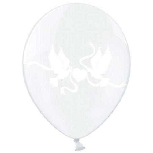 Twojestroje.pl Balon lateksowy przezroczysty gołąbki 30cm 1szt