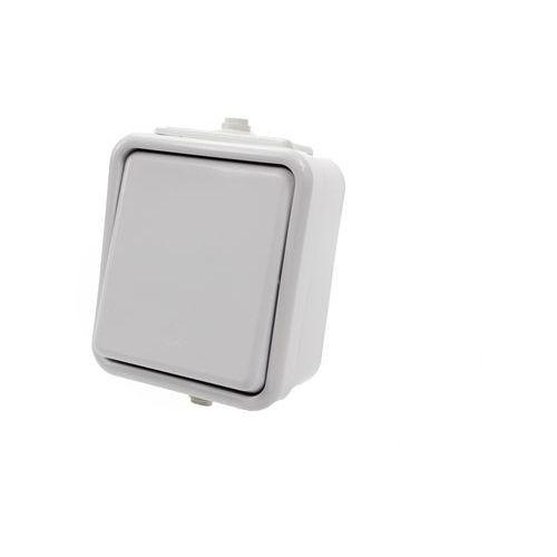 Łącznik pojedynczy natynkowy IP44 WNT-100C biały Cedar Schneider Electric, WNT100C01