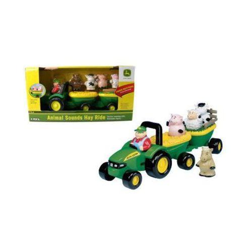 tomy dźwiękowy traktor j ohn deereze zwierzątkami marki Tomy