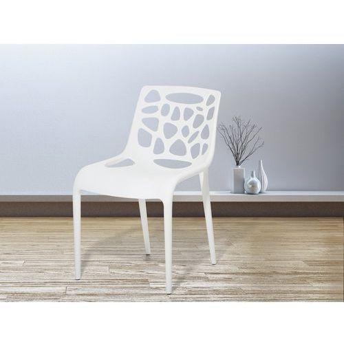 Zestaw do jadalni 2 krzesła białe MORGAN