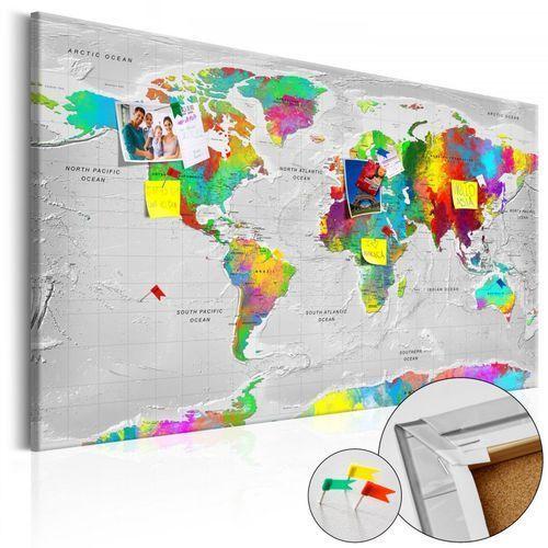 Obraz na korku - mapy: kolorowa finezja [mapa korkowa] marki Artgeist