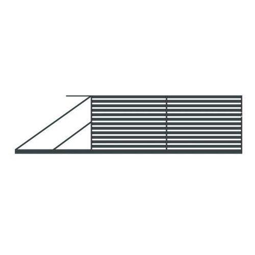 Polbram steel group Brama przesuwna lara 400 x 154 cm lewa (5900652450138)