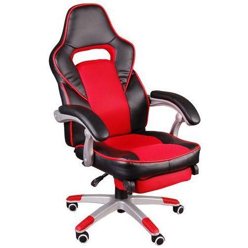 Giosedio Fotel biurowy czarno-czerwony, model fbg041 (5902751540345)