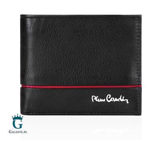 Mały Portfel Męski Pierre Cardin RFID czarno-czerwony TILAK15 8824