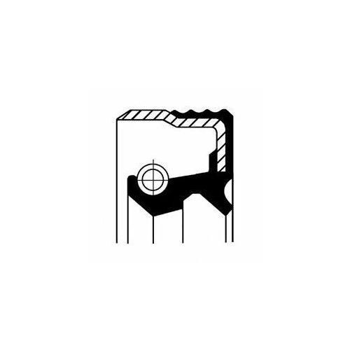 Pierścień uszczelniający wału, piasta koła CORTECO 12018360B, 12018360B
