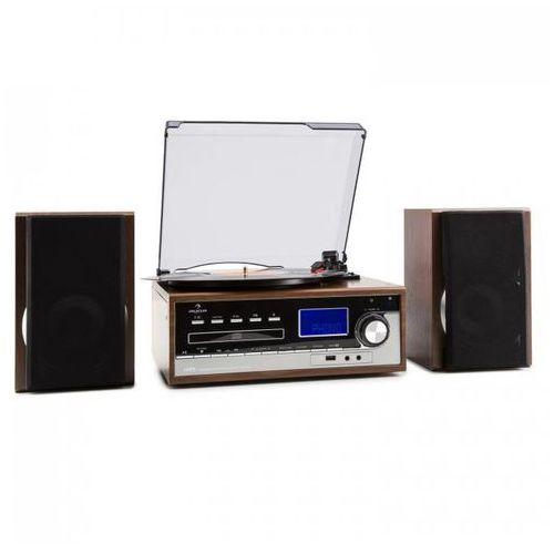 deerwood wieża stereo gramofon usb mp3 kodowanie cd odtwarzacz kasetowy ukf aux marki Auna