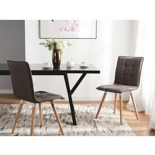 Zestaw do jadalni 2 krzesła brązowe BROOKLYN (4260586356670)