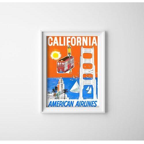 Plakat vintage do salonu Plakat vintage do salonu California American Airlines
