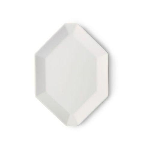 HK Living Kolekcja Athena: ośmiokątny talerz biały mat ACE6847, ACE6847