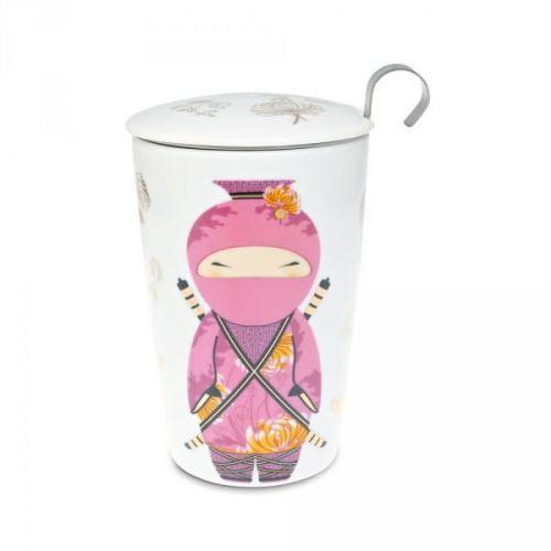 Eigenart kubek z zaparzaczem teaeve little ninja rose 350 ml