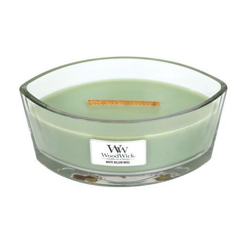 Woodwick - świeca hearthwick flame white willow moss 60h