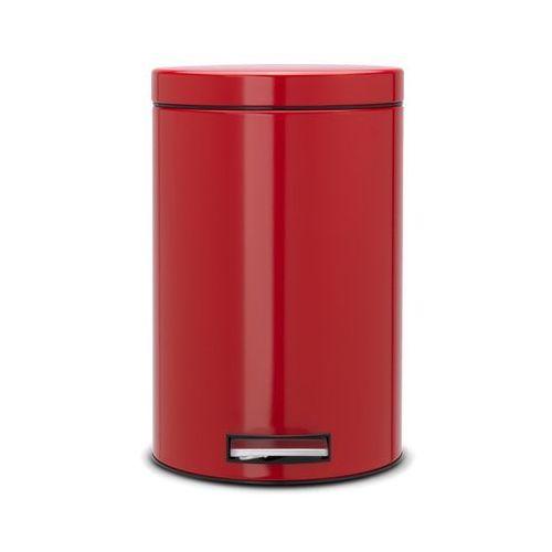 Brabantia - Kosz pedałowy Classic - wiaderko plastikowe – 12L - czerwony passion - produkt z kategorii- Pozostały sprzęt biurowy