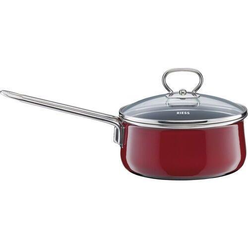 Rondelek z pokrywą, 1 litr, 16 cm, rosso emalia ceramiczna (r-0730-008) marki Riess