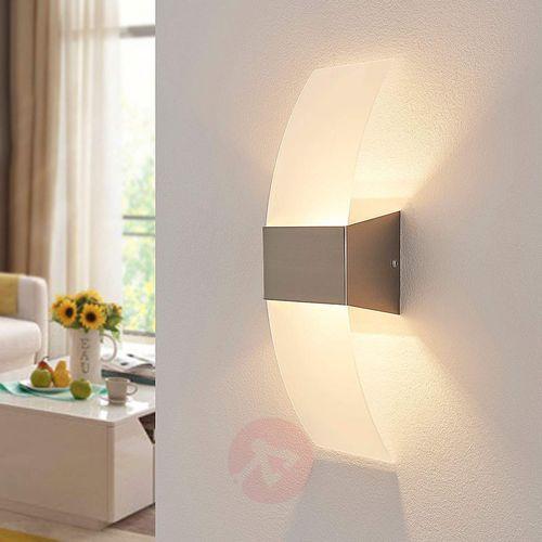Dekoracyjna lampa ścienna LED HARRY, matowy nikiel