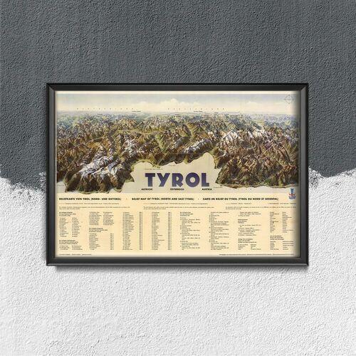 Plakat vintage do salonu Plakat vintage do salonu Tyrol Heinricha Beranna
