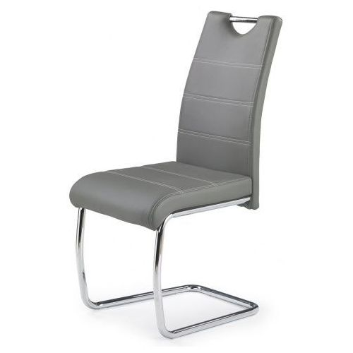 Stylowe metalowe krzesło elrond - popielate marki Producent: profeos