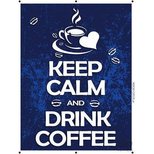 Consalnet Obraz keep calm and drink coffee - niebieski pt160t2