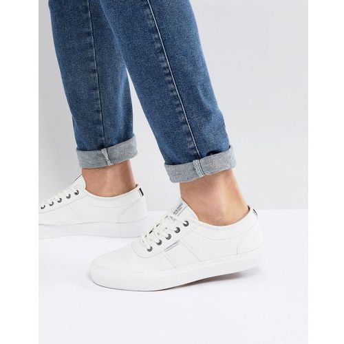 Jack & Jones Canvas Trainers - White, kolor biały
