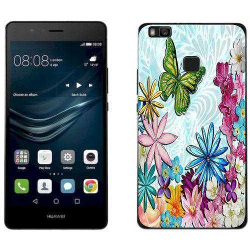 Zolti Huawei p9 lite 2017 - etui na telefon - kolekcja boho - zielony motyl - j107