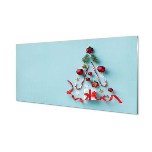 Obrazy akrylowe Prezent bombki słodycze dekoracje