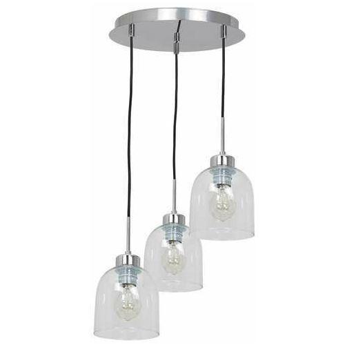 Luminex Fill 1738 lampa wisząca zwis 3x60W E27 chrom/transparentna