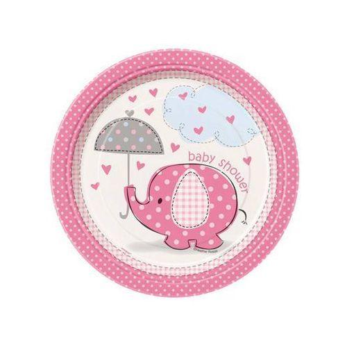Talerzyki na Baby Shower dla dziewczynki -18 cm - 8 szt.