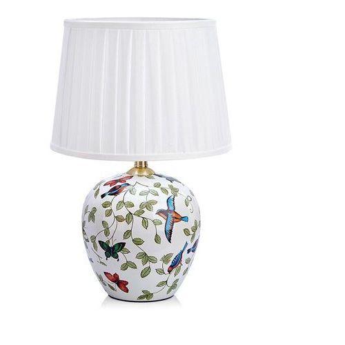Lampa lampka oprawa stołowa Markslojd Mansion 1L 1x60W E27 biała/wzór 107040 >>> RABATUJEMY do 20% KAŻDE zamówienie!!!, 107040