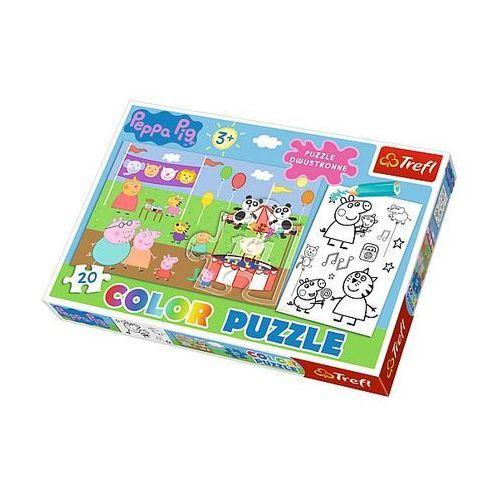 Puzzle color 20 elementów. świnka peppa marki Trefl