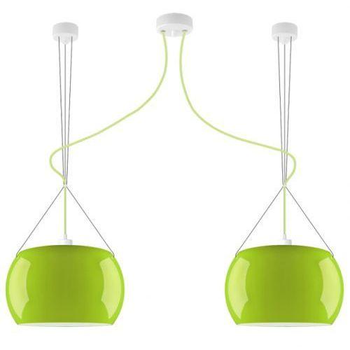 LAMPA wisząca MOMO ELEMENTARY 2/S/GREEN/OPAL Sotto Luce szklana OPRAWA zwis okrągła zielony, MOMO ELEMENTARY 2/S/GREEN/OPAL