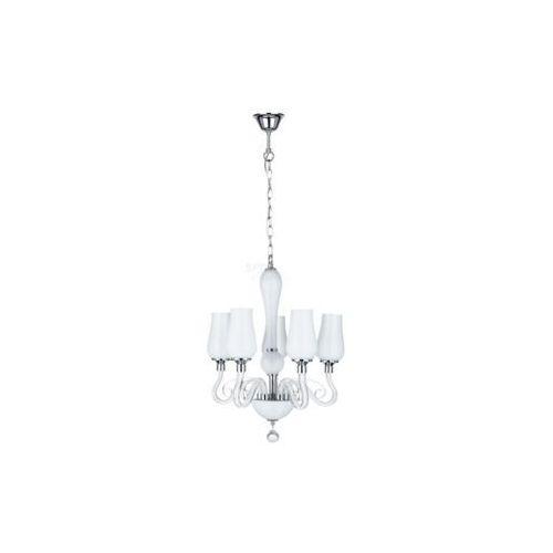 Lampa wisząca zwis Spot Light Lutecja 5x40W E14 biały 9150502, kolor Biały