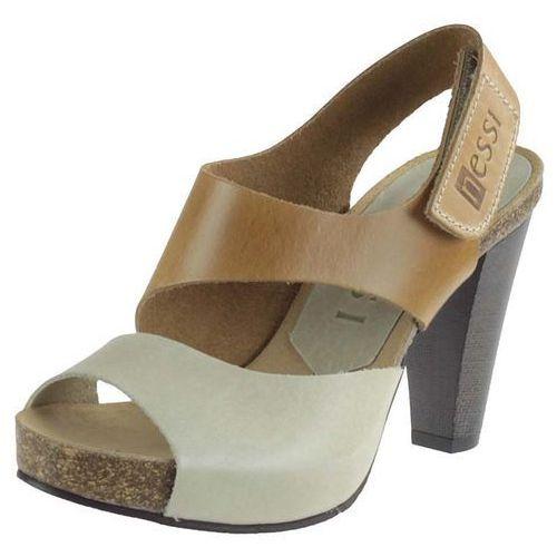 Sandały Nessi 42103 - Camel 11 beż 12