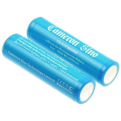 2x akumulator 18650 2600mAh 9.62Wh Li-Ion 3.7V z zabezpieczeniem PCM (Cameron Sino), CS-ICR18650NB