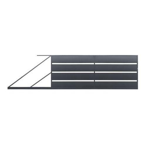 Polbram steel group Brama przesuwna leda 4 x 1,58 m ocynk antracyt lewa (5901122311195)