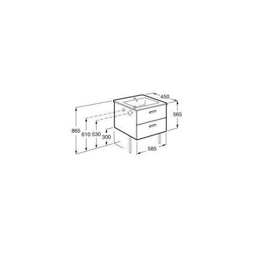 victoria basic unik szafka z szufladami biały połysk + umywalka 60 a855884806 marki Roca