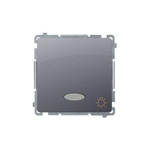 Simon basic przycisk światło z podświetleniem (moduł), 10ax, 250v~, zaciski śrubowe; stal inox bms1l.01/21 wmul-081xxx-j011 marki Kontakt simon