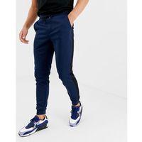 Only & Sons poly side stripe cuffed bottom sweat joggers in navy - Navy, w 2 rozmiarach