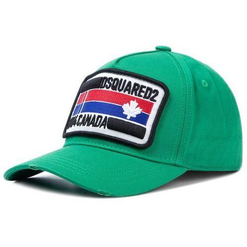 Czapka z daszkiem - patch cargo baseball caps bcm0247 05c00001 8079 smeraldo marki Dsquared2