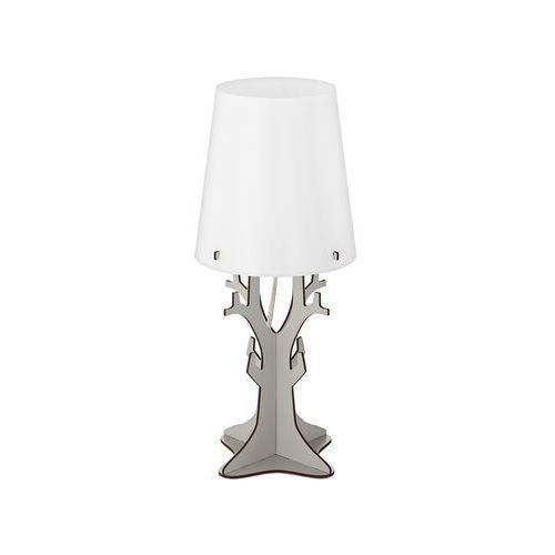 Lampka stołowa huntsham 49367 nocna 1x40w e14 szara/biała marki Eglo