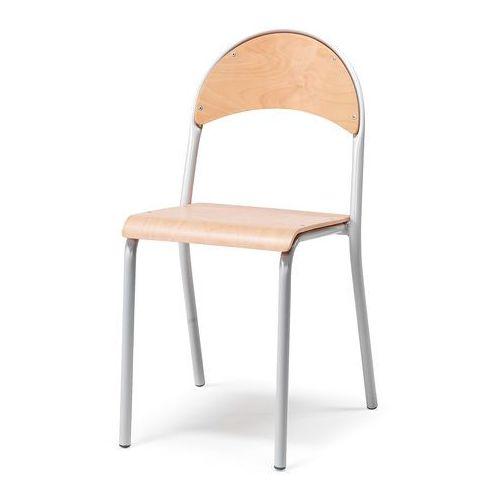 Aj Krzesło stołówkowe buk szare aluminium