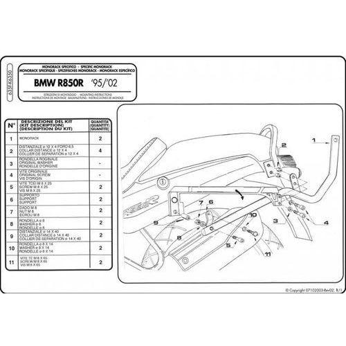 Stelaż Givi 635f BMW R850R (95-02), R1100R (95-01)
