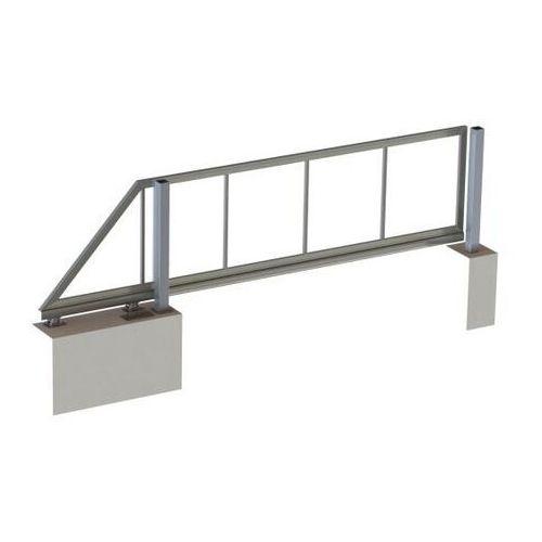 Brama samonośna, 4m elementy aluminiowo 60kg L5,5m
