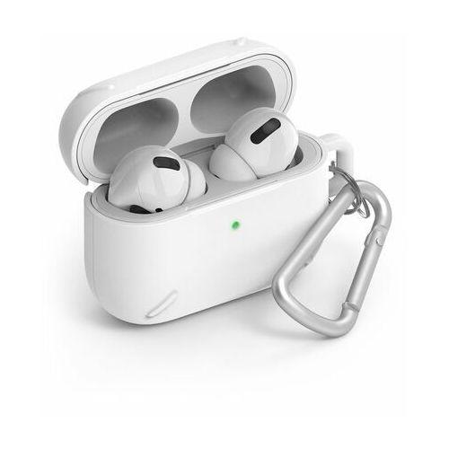 Ringke AirPods Case wytrzymałe etui case na słuchawki AirPods Pro + karabińczyk biały (ACEC0012) - Biały (8809688896637)