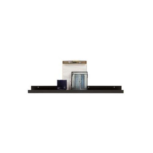 półka wisząca ravi na zdjęcia czarna 80cm 373602-z marki Woood