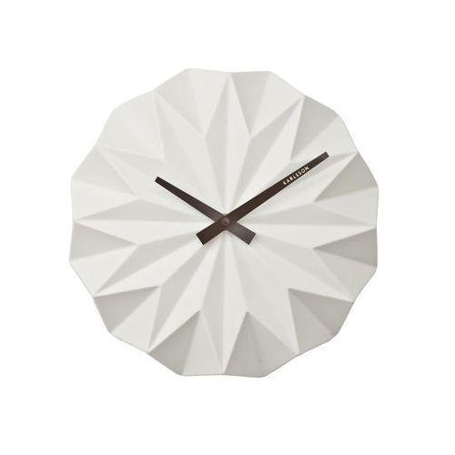 Karlsson:: Zegar ścienny Origami Ceramic Matt White
