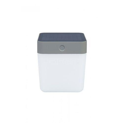 Lutec table cube zewnętrzny kinkiet led srebrny, 1-punktowy - nowoczesny - obszar zewnętrzny - cube - czas dostawy: od 6-10 dni roboczych (6939412082721)