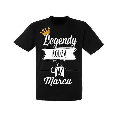 Koszulka Czarna Urodziny Marzec Legendy - URKC008-03