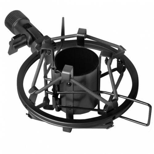 LD Systems DSM40B uniwersalny uchwyt mikrofonowy antywibracyjny typu ″koszyk″, 40-44 mm (czarny)