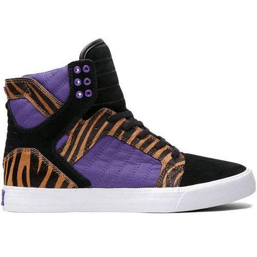 buty SUPRA - Skytop Jefferson Black / Purple / Tiger - White (TIG), kolor biały